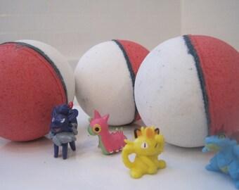 POKEBOMB - Bath bomb with Pokemon figure inside