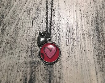 Stainless steel chain pendant Valentine heart necklace