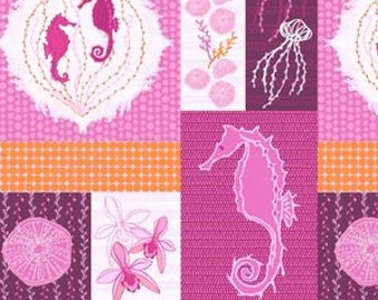 Full Moon Lagoon - Patchwork in Magenta - Mo Bedell for Andover Fabrics - 5997-E - 1/2 yard