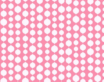 Full Moon Lagoon - Seaweed in Light Pink - Mo Bedell for Andover Fabrics - 6004-EL - 1/2 yard