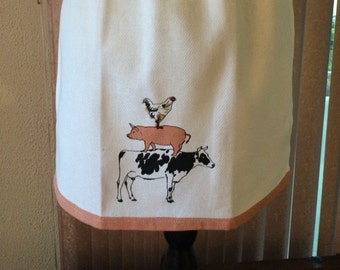 Apron for little girl sz. 6-8