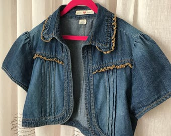 Derek Heart Girls Jeans Jacket, M