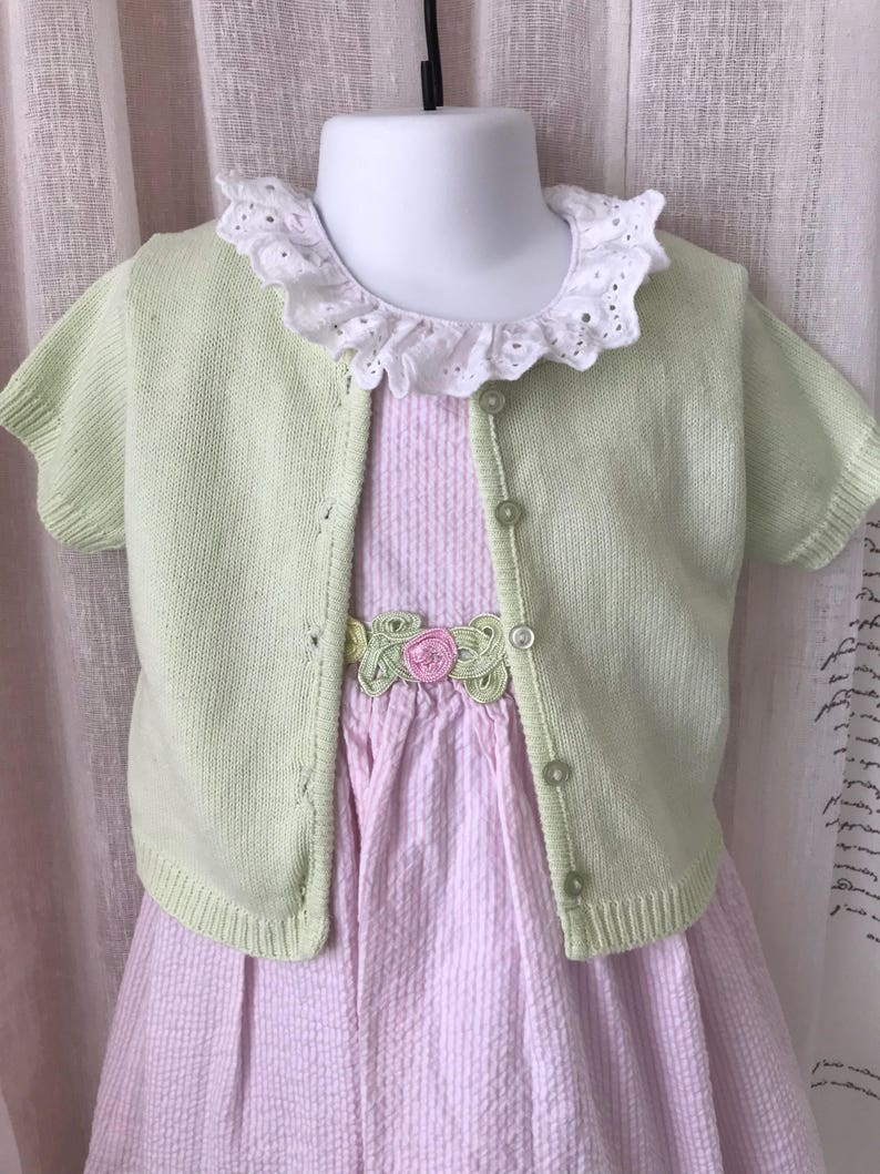 Bonnie Jean Soft green sweater 2T.. dress sold separately