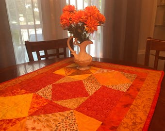 """Quilted Fall Tablecloth, 25"""" x 33"""""""
