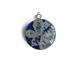 Small Sterling Pendant ONLY Made With Your Wedding Gown Lace Material