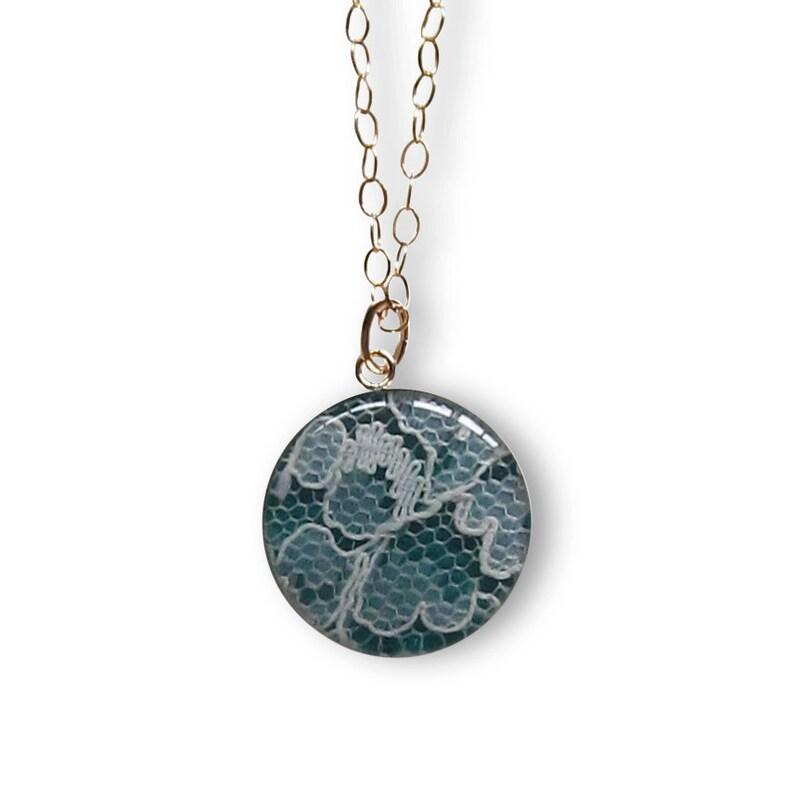 Necklace Made With Wedding Dress Lace medium sized  14k image 0