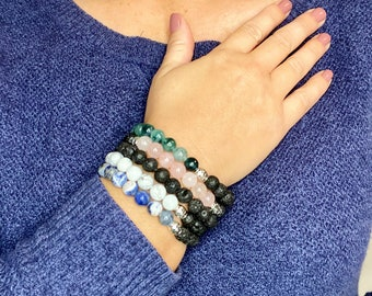 Diffuser Bracelets | Essential Oil | Aromatherapy | Stacking Bracelets | Unisex