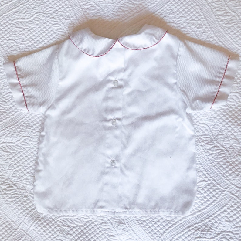 Vintage Baby Girl Shirt with Peter Pan Collar \u2022 Size 12 Months