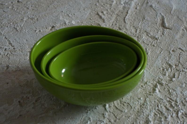 Hutzler Green Plastic Measuring Cupsbowl-oval-Set of 3