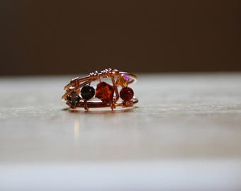 Autumn Wire Wrapped Copper Ring