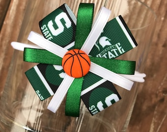 Michigan State Headband Hair Bow Spartans Bow Spartans baby girl headband