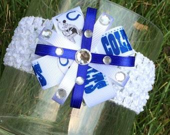 Indianapolis Colts Bling Headband or Hair Bow