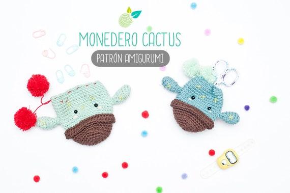 Patron Amigurumi Monedero Cactus Patron En Espanol De Etsy - Monedero-crochet-patron