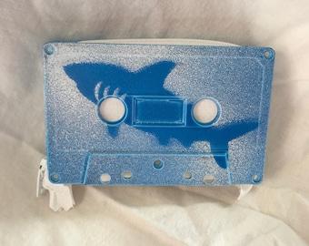 Shark Week Inspired Great White Shark Cassette Tape Wallet