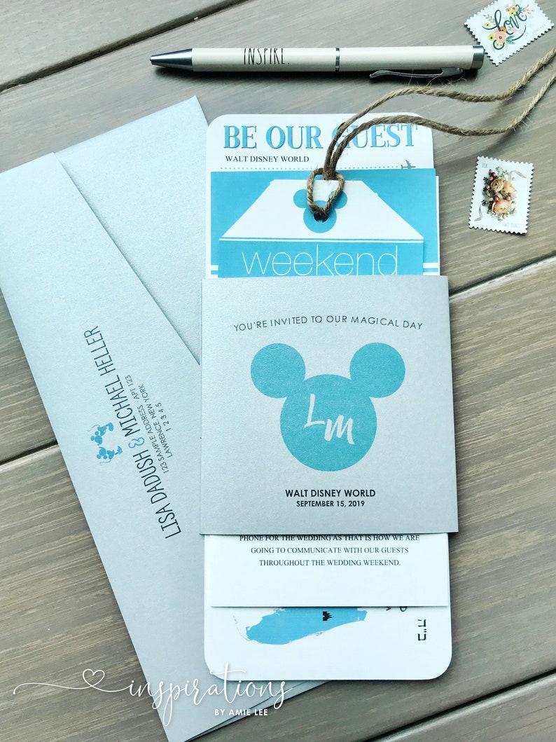 Disney Wedding Invitations Disney Boarding Pass Invitations Fairy Tale Wedding Disneyland Fast Pass Disney Cruise Disney Fast Pass