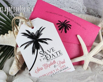 Save The Date, Luggage Tag save The Dates, Destination Wedding, Tags