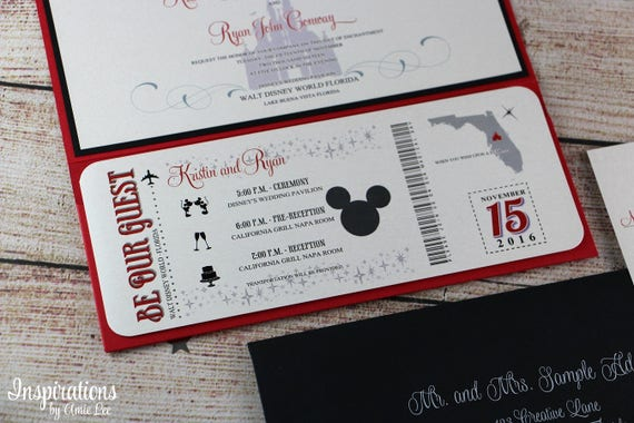Disney Wedding Invitations, Disneyland Wedding, Disney Wedding, Fairy tale Wedding, Magic Kingdom Wedding