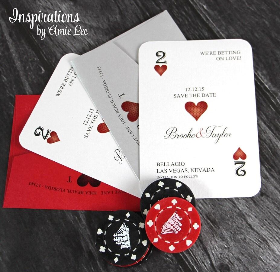 Save The Dates Vegas Wedding Casino Wedding Vegas | Etsy