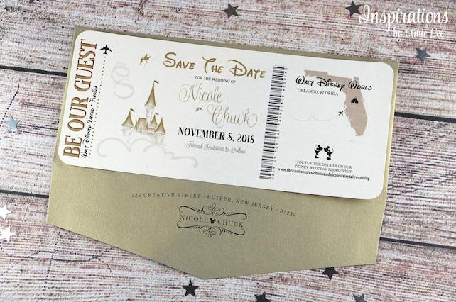 Save The Date, Disney Wedding, Disney Save the Date, Disney Boarding Pass, Fairytale Wedding, Disneyland Wedding