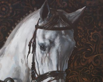 Sugar Mare - 8 x 10 art print of an oil painting