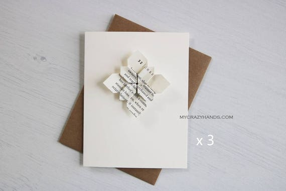 3 origami cards origami flower greeting cards wedding etsy image 0 mightylinksfo