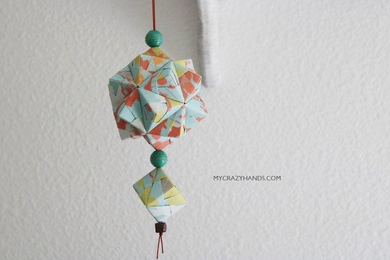 origami geometric home decor  origami kusudama  origami image 0
