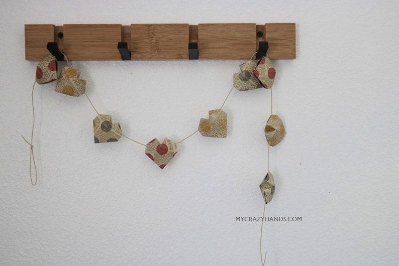 origami 3D heart garland  nursery garland  nursery decor  image 0