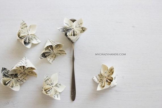12 origami flowers wedding flower favors paper flower etsy image 0 mightylinksfo