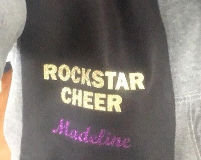 Customized handmade fleece tied scarf- cheer, dance, gymnastics, sports team- holiday, end of season gift