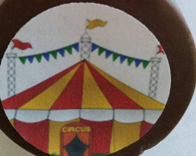24 Big Top Circus Birthday Party Favor Lollipops or oreos