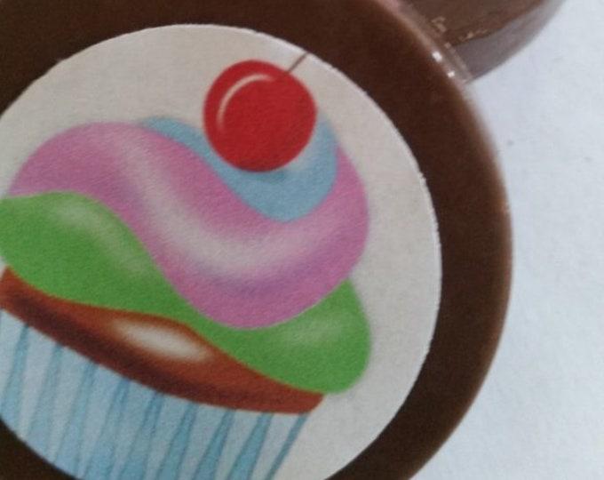 24 chocolate cupcake lollipops or Oreos image, your image, logo, cake