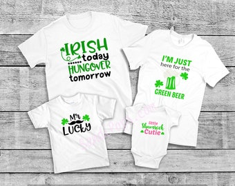 Saint Patrick's, St. Pat's shirts, mix and match Irish, Ireland, Kisses, Beer, Lucky Shirts, shamrock, onesie, tee