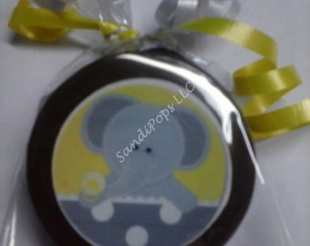 24 Edible Image Lollipops or Oreos Elephant Baby Shower YOUR IMAGE can be used!!!!