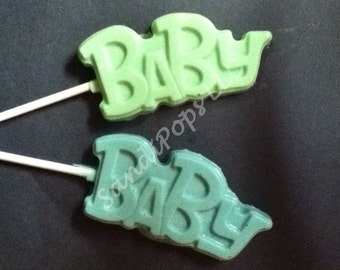 24 SOLID Baby Chocolate Lollipop Party Favor