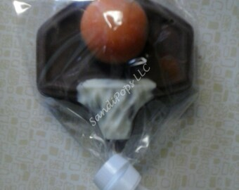 24 BasketBall Chocolate Lollipops