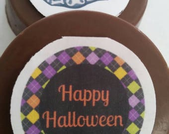 24 Custom Halloween image Party Favors- Pops or Oreos, fall autumn, scary, haunted