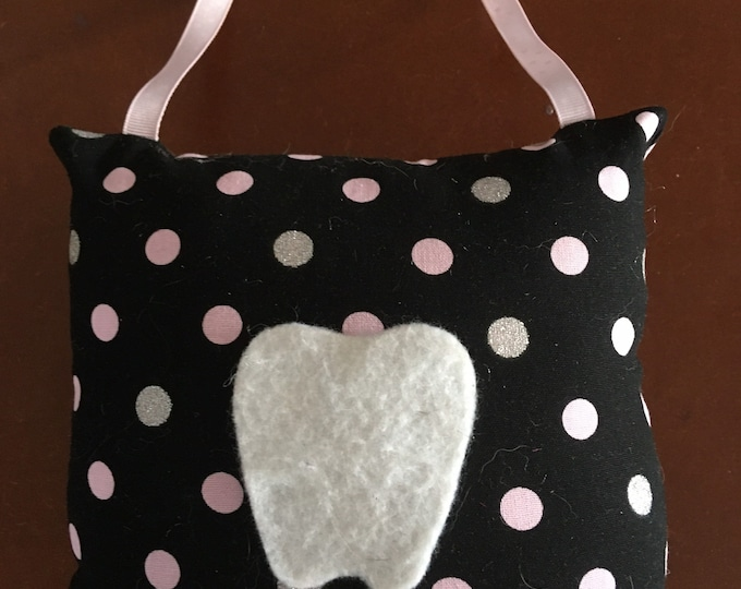 Tooth Fairy pillow, tooth holder, money holder, can be personalized