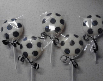 24 Soccer Ball Chocolate Lollipops
