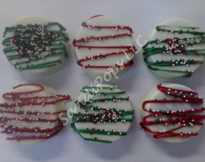 FREE SHIPPING- 24 Chocolate covered St Patrick's, Valentines or holiday Oreos