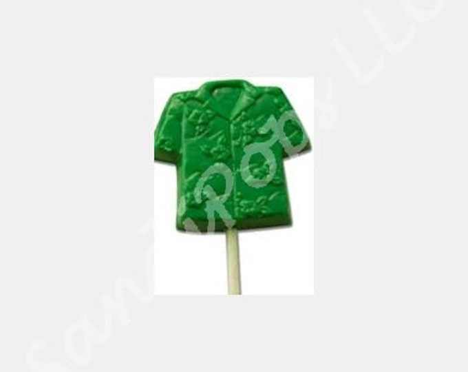 24 Summer, Beach, Luau Hawaiian Shirts Lollipop Party Favors