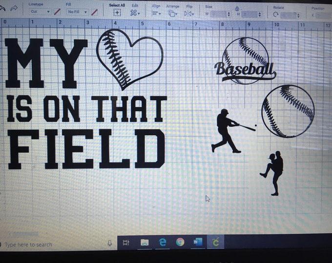 Baseball, Softball, Field, Sport, Batter, Catcher, Mom Dad Supporter Vinyl Decal
