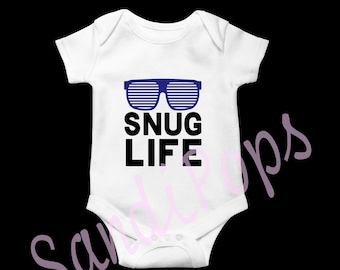 Newborn onesies snug life, naps, cape, hello ladies, house white,