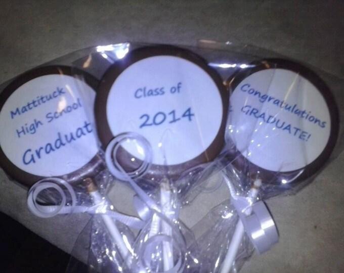 24 Graduation lollipop party favors