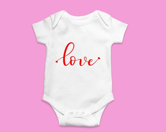Customized Valentine's LOVE onesie baby shirt