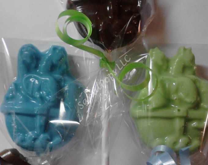 24 Noah's Ark Baby Shower or announcement chocolate lollipops