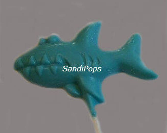 24 Solid Color Sea Creature, shark, killer, jaws, Under the Sea Chocolate Lollipop