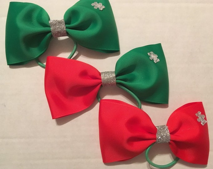 THREE unique holiday tail less bows