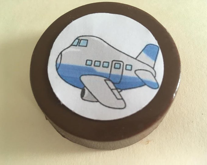 24 Customized Air Plane lollipops or oreos with edible image