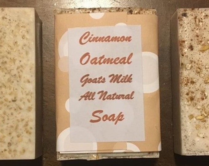 3+ bars All Natural Goat Milk Soap- Oatmeal, Lemon, Tea, cinnamin, clove, orange