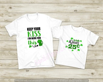 His and Hers St Pats, Saint Patrick's Day shirts, pick your design, Lucky Leprechaun kisses, Irish, Ireland, Green Beer Day